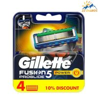 تیغ یدک ژیلت مدل FUSION PROGLIDE 5 POWER تعداد 4 عددی Gillette